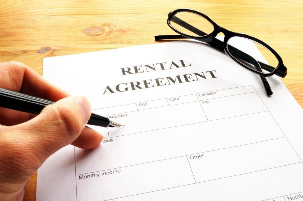 The rental agreement form for leasing your home in Beverly Hills Flats