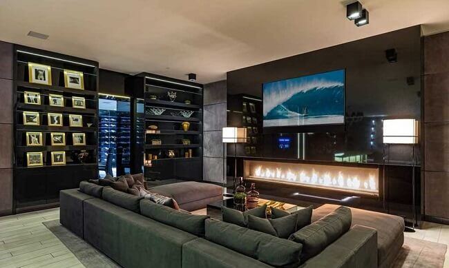 inside of luxury Hollywood Hills LA home for sale