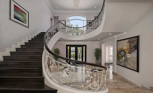 inside view of luxury Los Angeles property