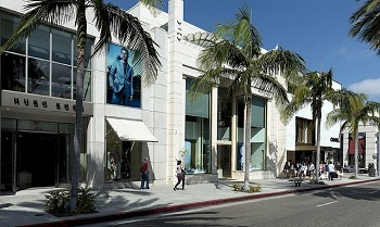 Rodeo Drive shops in Beverly Hills